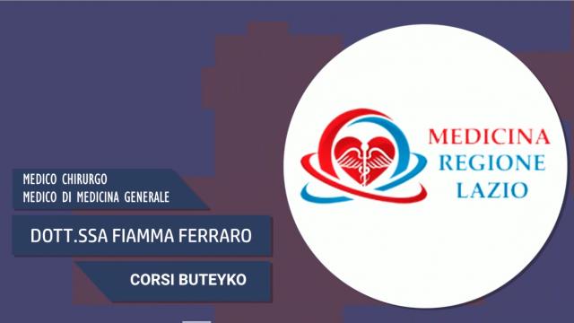 """I corsi Buteyko – """"Medicina Regione Lazio"""""""